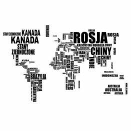 naklejki mapa świata