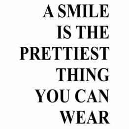 naklejka a smile