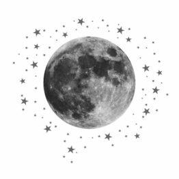 księżyc naklejka dla dziecka