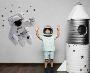 dekoracja astronauta