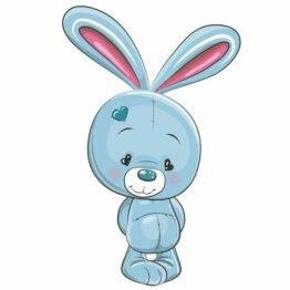Znalezione obrazy dla zapytania niebieski królik