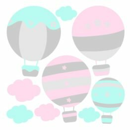 naklejka balon i chmurka