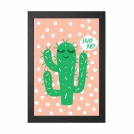 plakat kaktus skandynawski styl