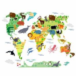 mapa ze zwierzakami