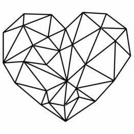 naklejka serce