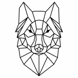 naklejka wilk