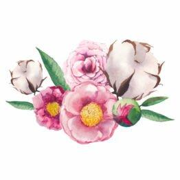 naklejki dekoracyjne z kwiatami