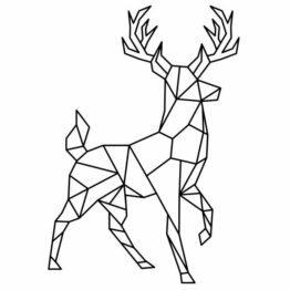 naklejka jeleń geometryczna