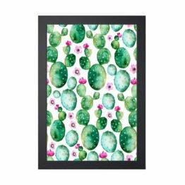 plakat kaktusy botaniczne dekoracje