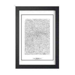 plakat z mapą miasta Londynu