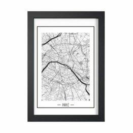 mapa Paryża plakaty
