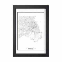 plakaty topograficzne z planami miast