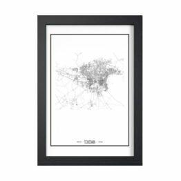plakaty z mapami miast