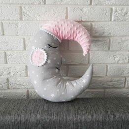 poduszka dekoracyjna księżyc handmade