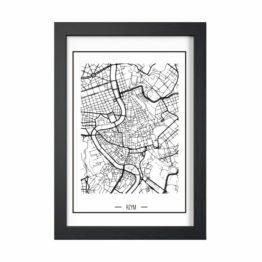 plakat plan miasta
