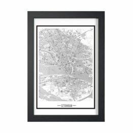miasto sztokholm plakat mapa