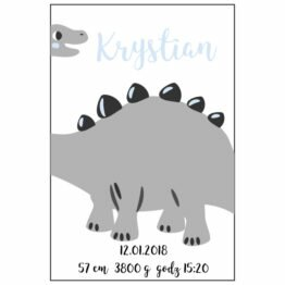 metryka dinozaur, dla dzieci