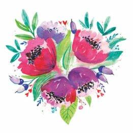 bukiet kwiatów naklejki ścienne