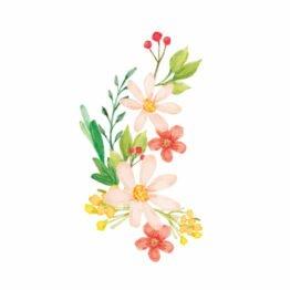 naklejka polne kwiaty